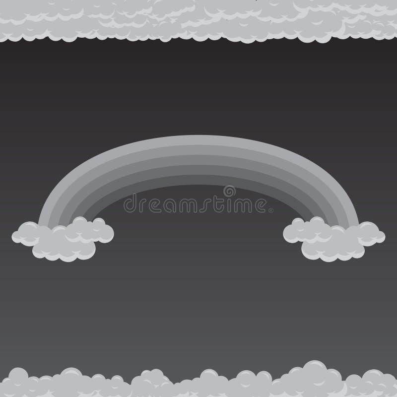 与多云的灰色极谱彩虹 库存例证