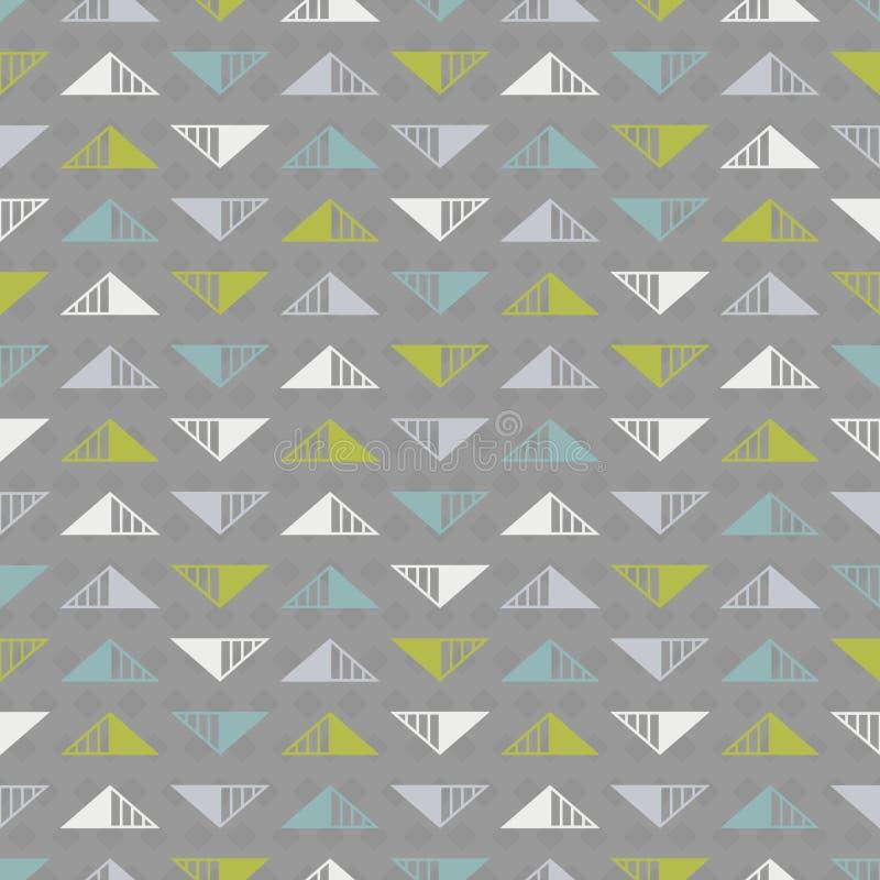 与多彩多姿的三角的抽象无缝的背景 皇族释放例证