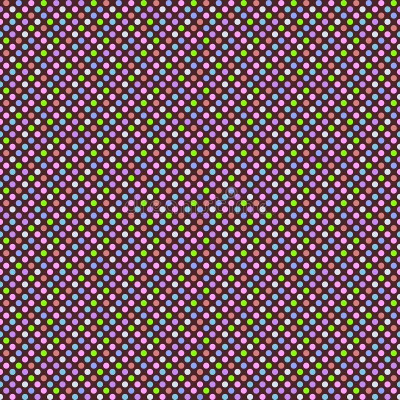 与多彩多姿的圆点的无缝的几何样式 向量 向量例证