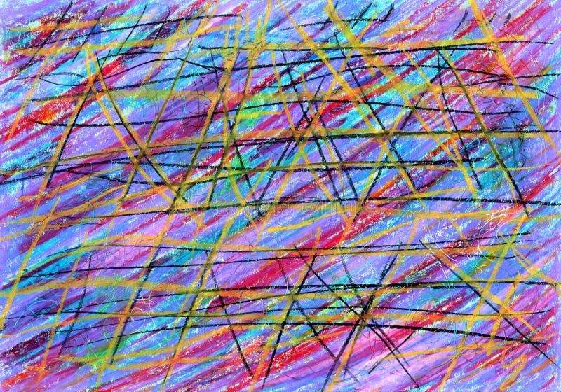 与多彩多姿的条纹的抽象背景 免版税库存图片
