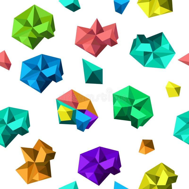 与多角形形状的传染媒介不尽的背景 皇族释放例证