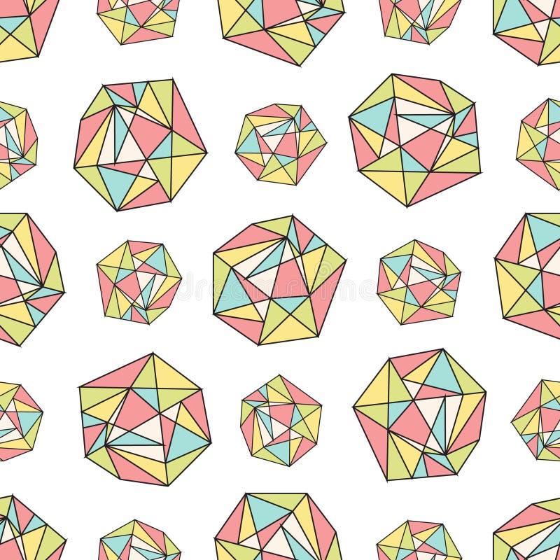 与多角形形状的无缝的重复样式 库存图片