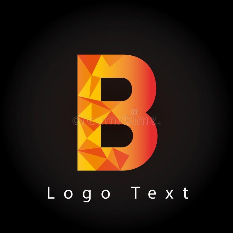 与多角形样式的信件B商标 向量例证