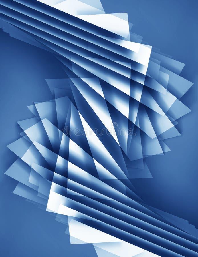 与多角形样式的抽象蓝色3d背景 库存例证