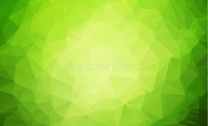 与多角形的抽象几何背景 信息与几何形状的图表构成 减速火箭的标签设计 向量例证
