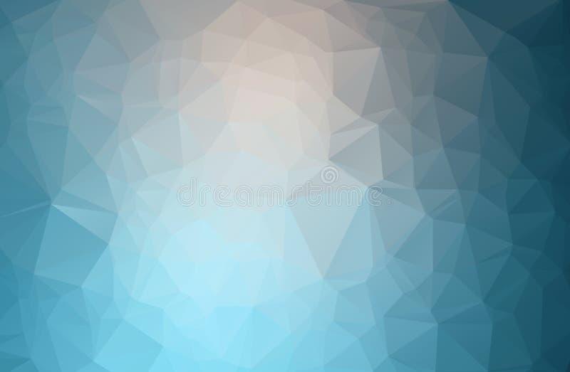 与多角形的抽象几何背景 信息与几何形状的图表构成 减速火箭的标签设计 皇族释放例证