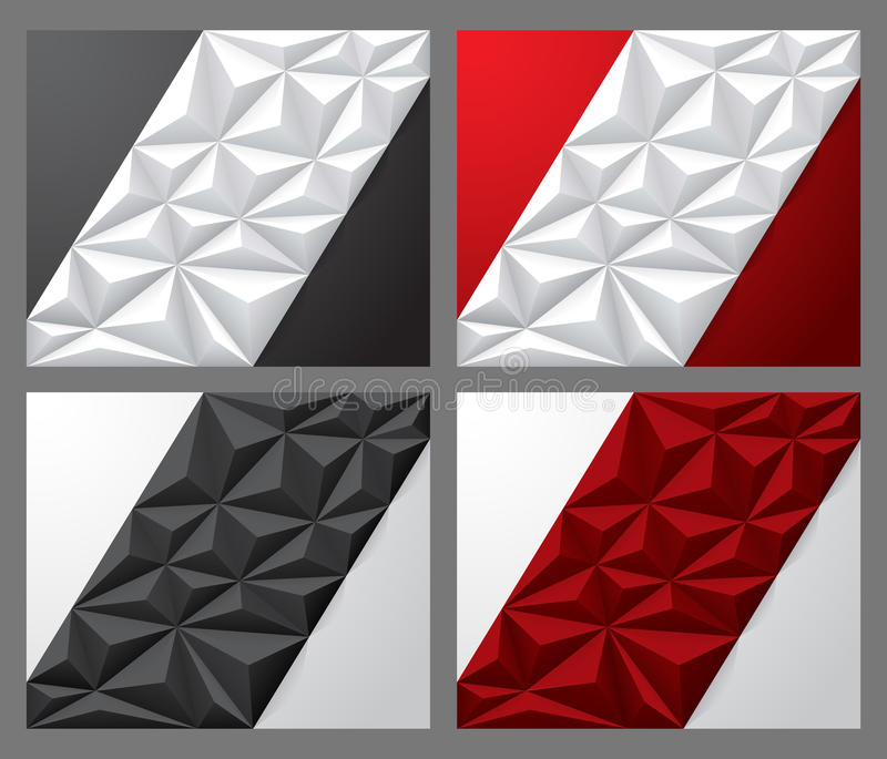 与多角形的背景在中部 库存照片