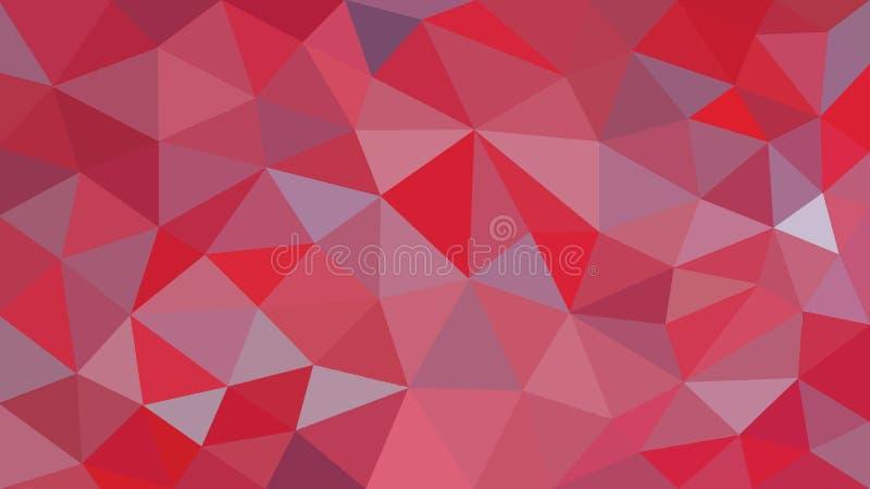 与多角形纹理的抽象红色背景 皇族释放例证