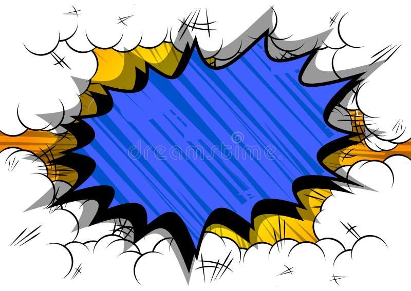 与大五颜六色的爆炸泡影的漫画背景 皇族释放例证