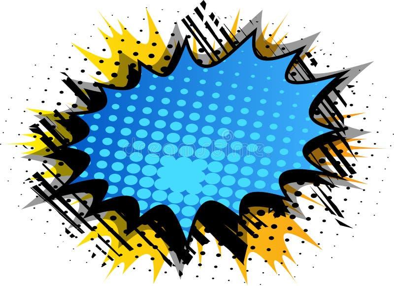 与大五颜六色的爆炸泡影的漫画背景 向量例证