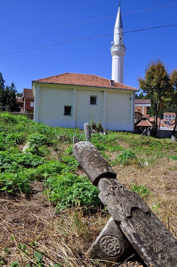与大卫王之星的墓碑, Mlike清真寺 免版税库存图片