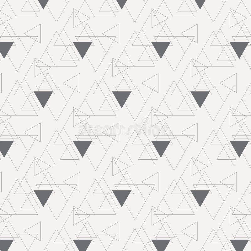 与大和小三角的线性三角传染媒介样式连接了其中每一 库存例证