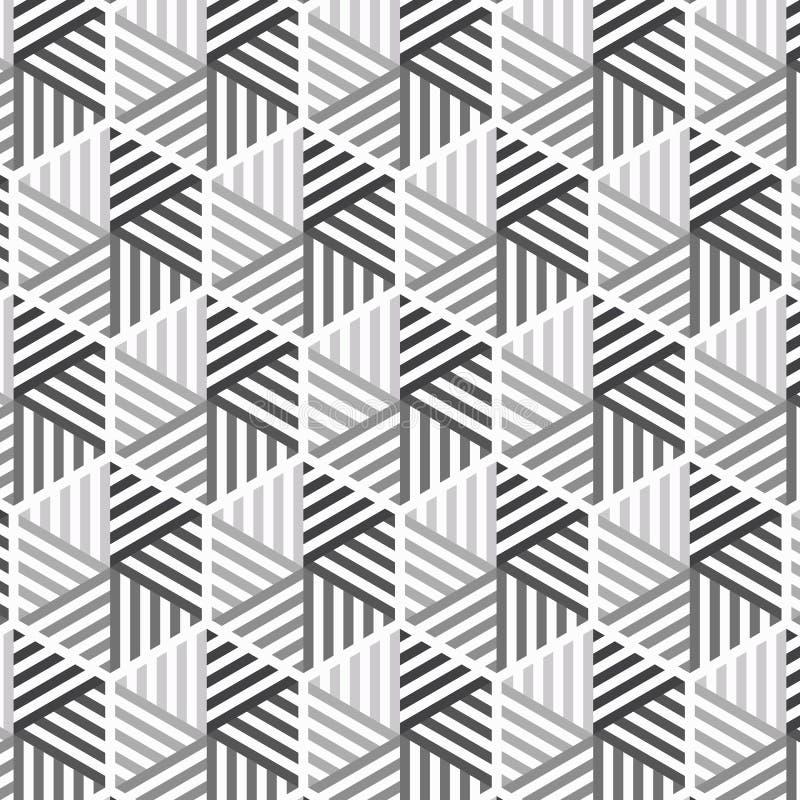 与大和小三角的线性三角传染媒介样式连接了其中每一 皇族释放例证