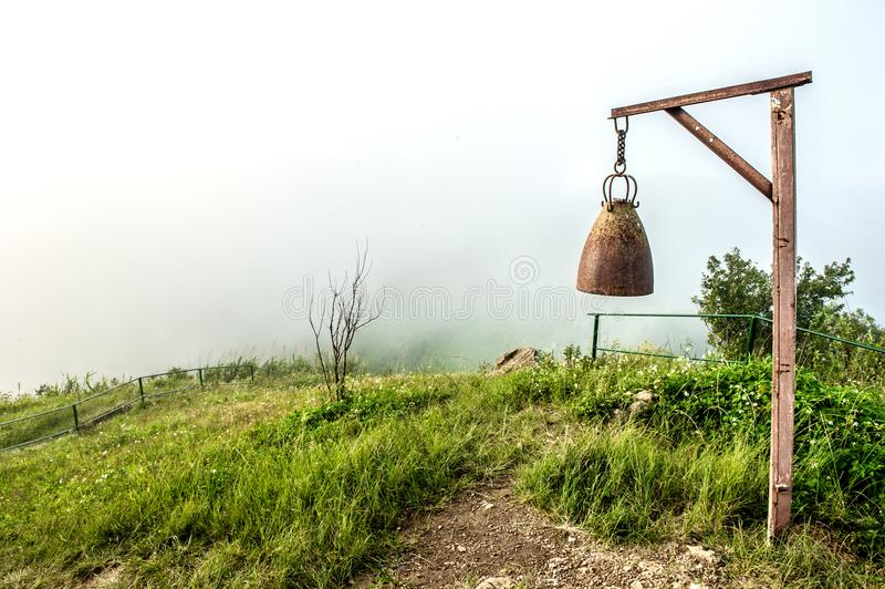与大响铃的Moutain美丽的景色在土井pha特性 图库摄影