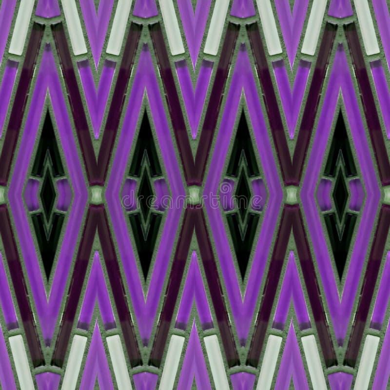 与大块玻璃的抽象设计在白色,紫色和黑色、背景和纹理 向量例证