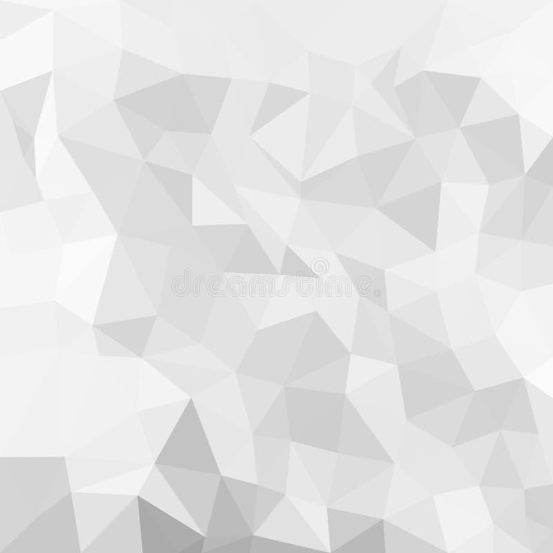 与大形状的抽象背景 三角的纹理 库存例证