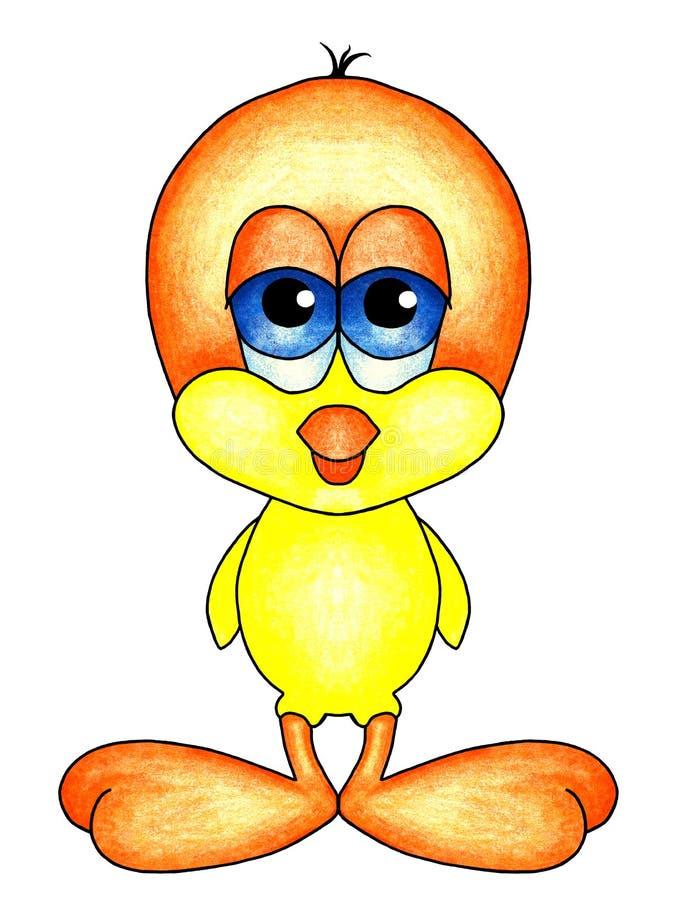 与大橙色脚的幼鸟 库存照片