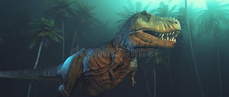 与大犬齿的迪诺恐龙