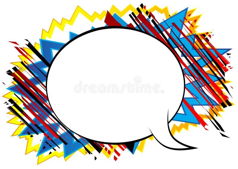 与大空白的讲话泡影的漫画背景 向量例证