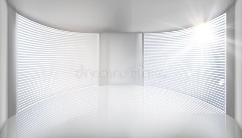 与大窗口的空的内部 也corel凹道例证向量 向量例证