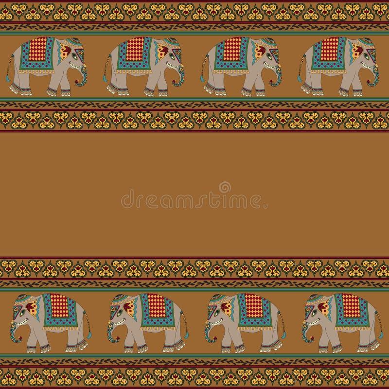 与大象的印第安样式 皇族释放例证
