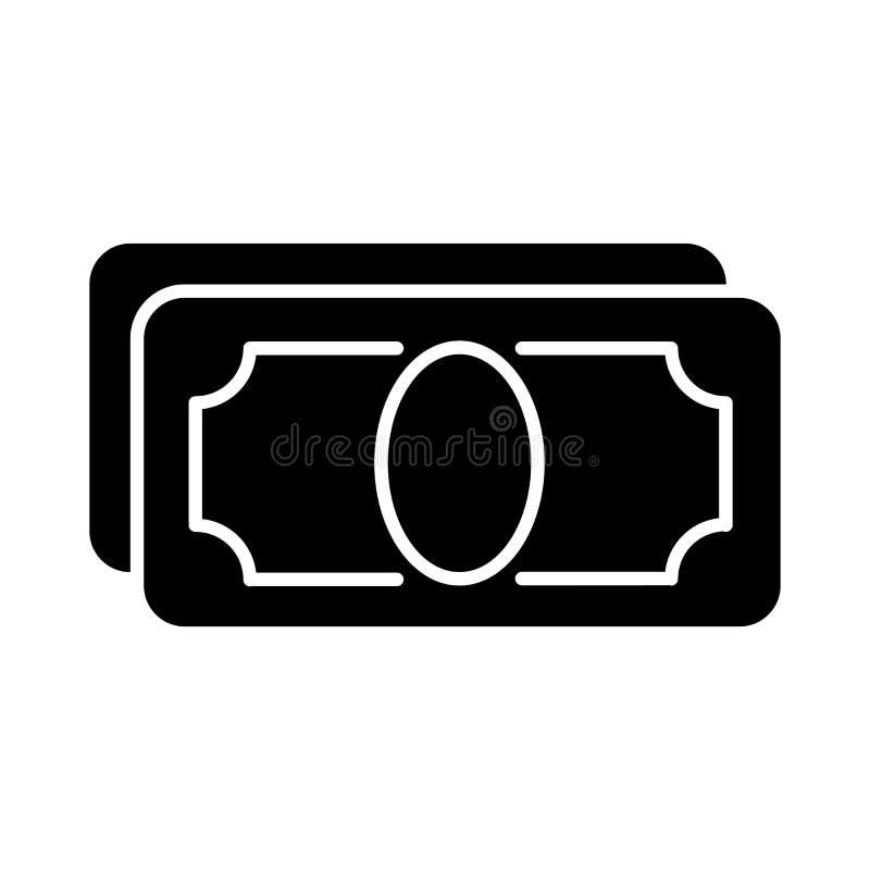 与大量的风格化金钱空白传染媒介象 黑白金钱例证 坚实线性象 向量例证