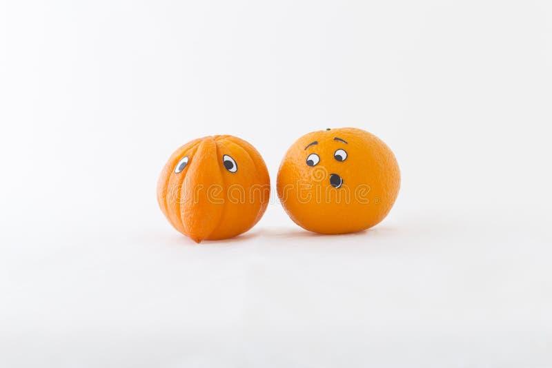 与大鼻子的新鲜的桔子 免版税库存图片