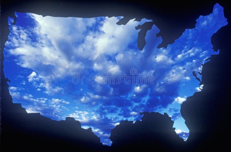 与天空的美国大陆 库存照片