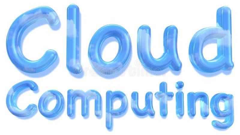 与天空纹理的云彩计算的词 向量例证