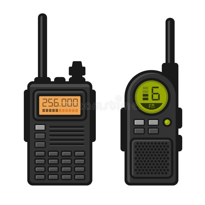 与天线接收器的收音机收发器 向量 向量例证