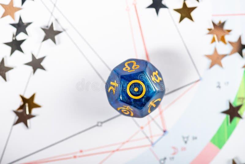 与太阳的标志的占星术模子 库存图片