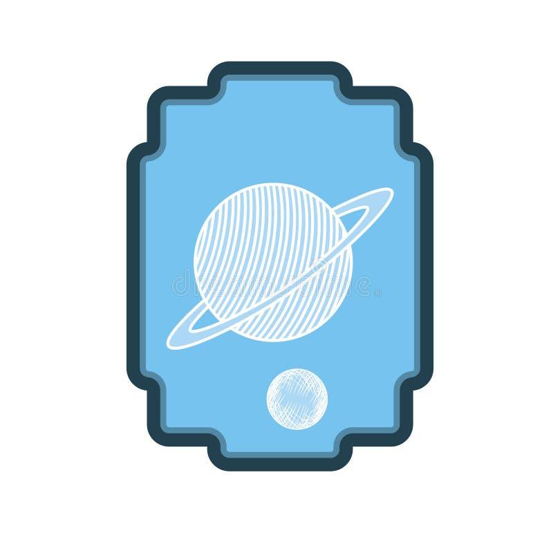 与太阳系的行星的框架 皇族释放例证