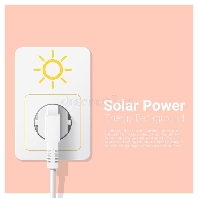 与太阳能和电火花塞的绿色能量概念背景 库存例证