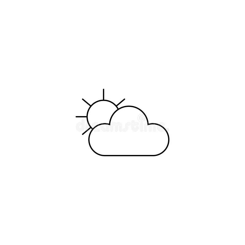 与太阳象的云彩 线型 Cloudly天气 皇族释放例证