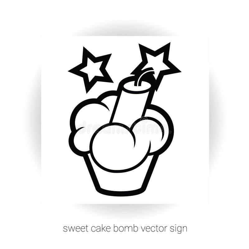 与奶油和炸药的杯形蛋糕 皇族释放例证
