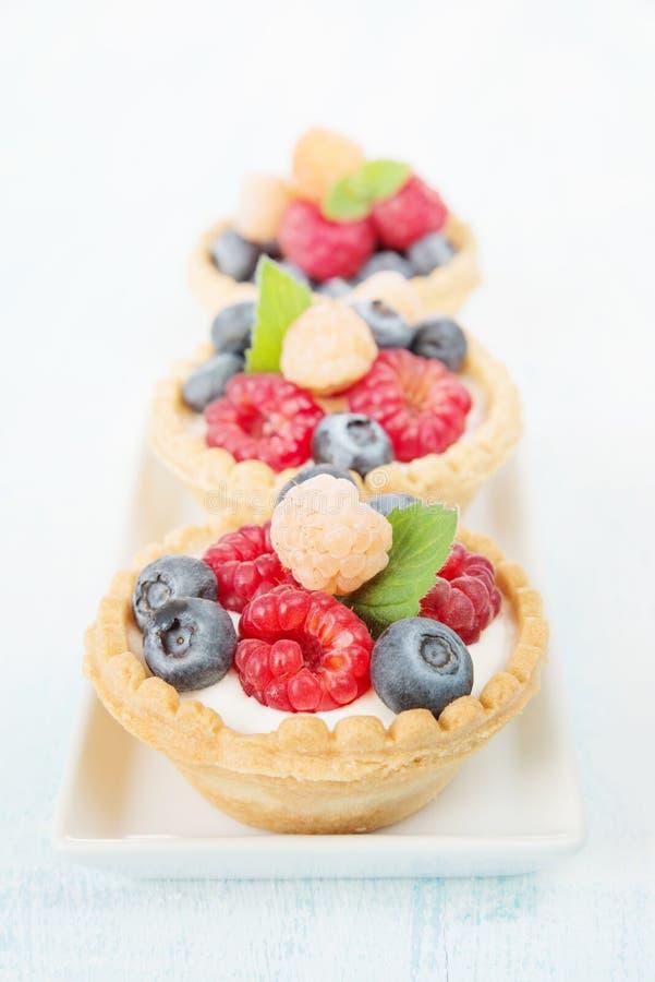 与奶油的果子果子馅饼 库存照片