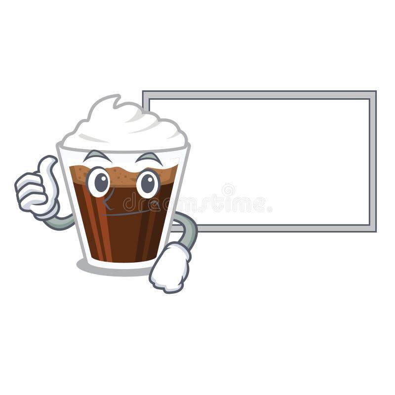 与委员会爱尔兰coffe的赞许隔绝与动画片 向量例证