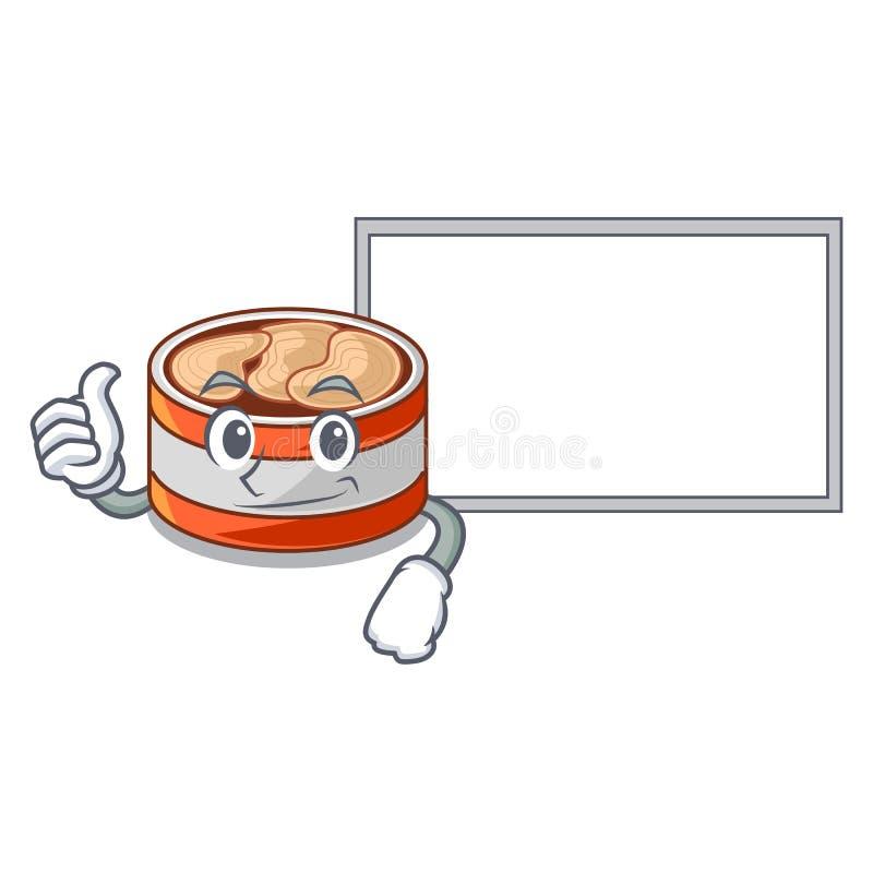 与委员会的赞许装金枪鱼于罐中隔绝与在吉祥人 库存例证