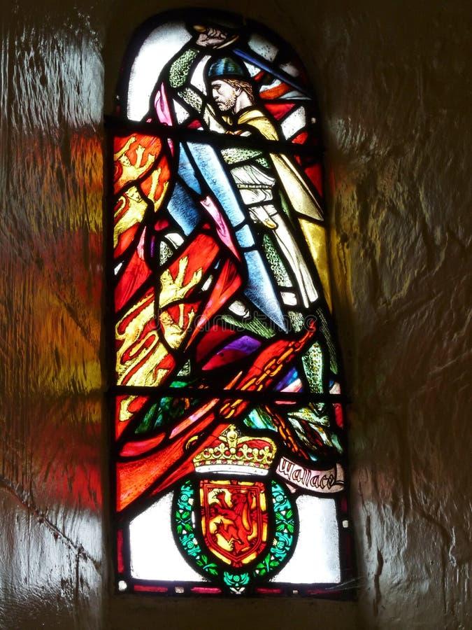 与威廉・华莱士的玻璃窗 库存图片
