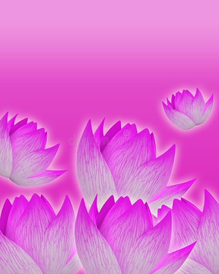 与嫩桃红色花的桃红色背景 库存例证