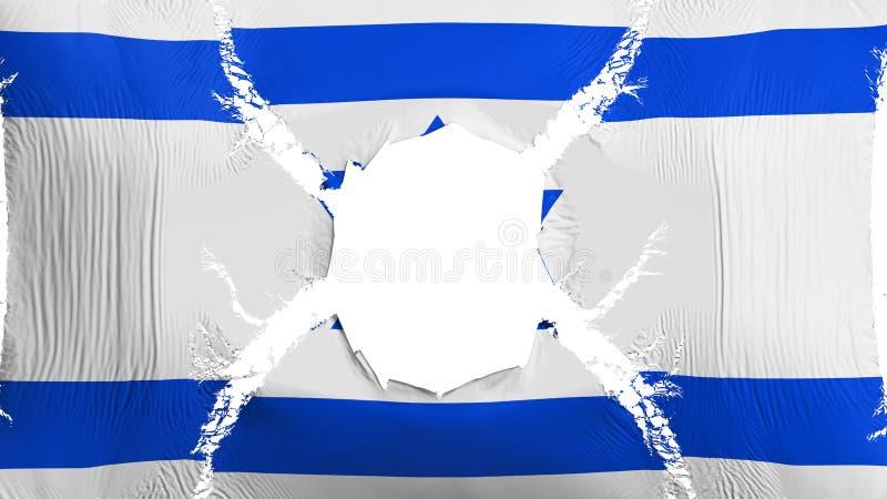 与孔的以色列旗子 向量例证