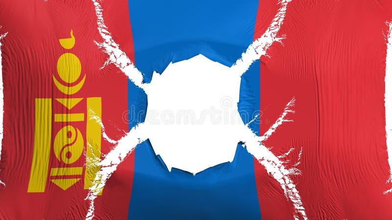 与孔的蒙古旗子 库存例证