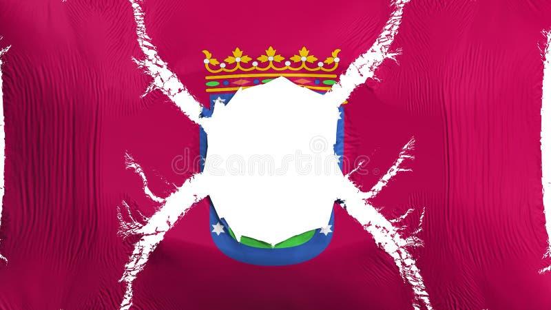 与孔的马德里旗子 向量例证