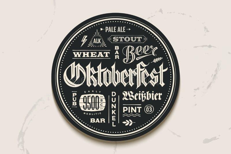 与字法的沿海航船啤酒慕尼黑啤酒节节日的 向量例证