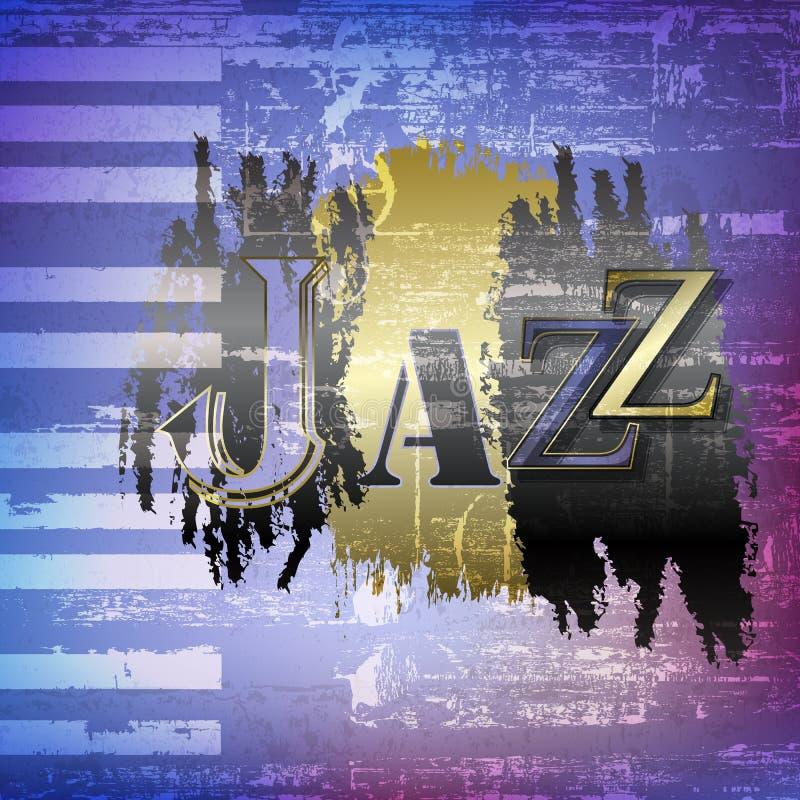 与字爵士乐的抽象难看的东西背景 向量例证