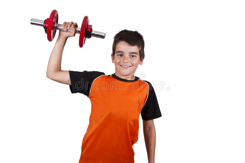 与孩子的体操 免版税库存照片