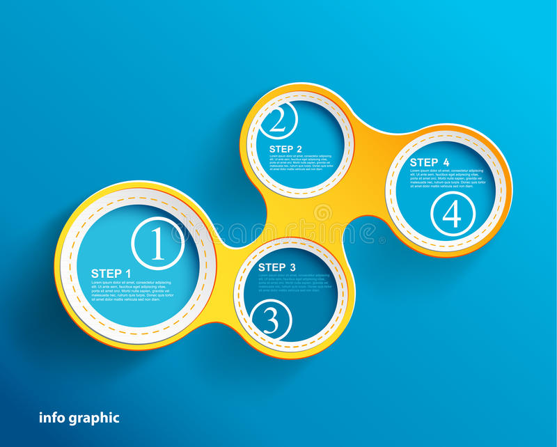 与安排的信息图象圈子您的文本的 向量例证