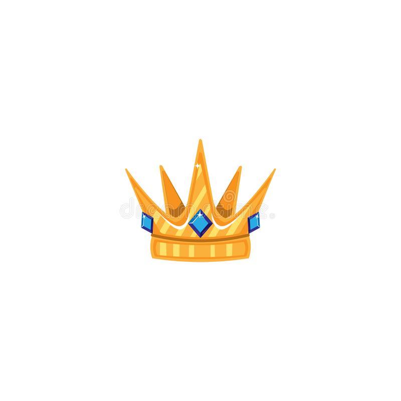 与宝石的金冠 象对象标志 也corel凹道例证向量 艺术设计动画片隔绝了 皇族释放例证