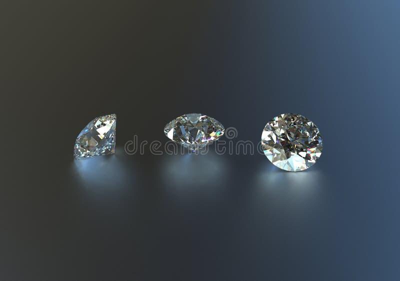 与宝石的首饰背景 3d例证 库存照片
