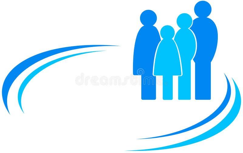 与家庭和设计元素的象 向量例证